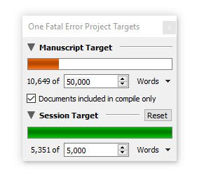 10 k writing progress