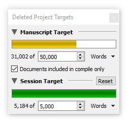 Deleted 30k words