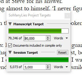 Writing progress