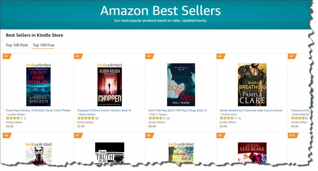 Number 3 in ALL Kindle Best Sellers