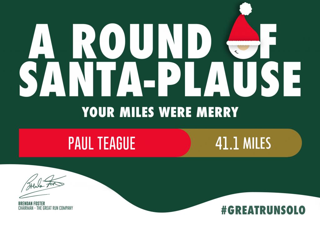 Great North Run December challenge